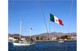 Ventana al Mar ensenada Mexico flag